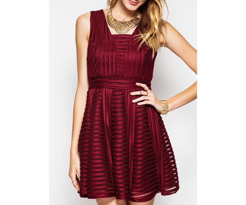 Instalove Bourdeaux Dress