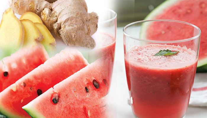 New Taste of Healthy: Ginger Watermelon Detox Smoothie