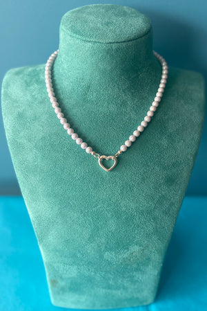Blue Swarovski Pearl necklace