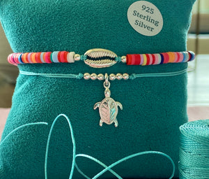 925 Turtle friendship bracelet