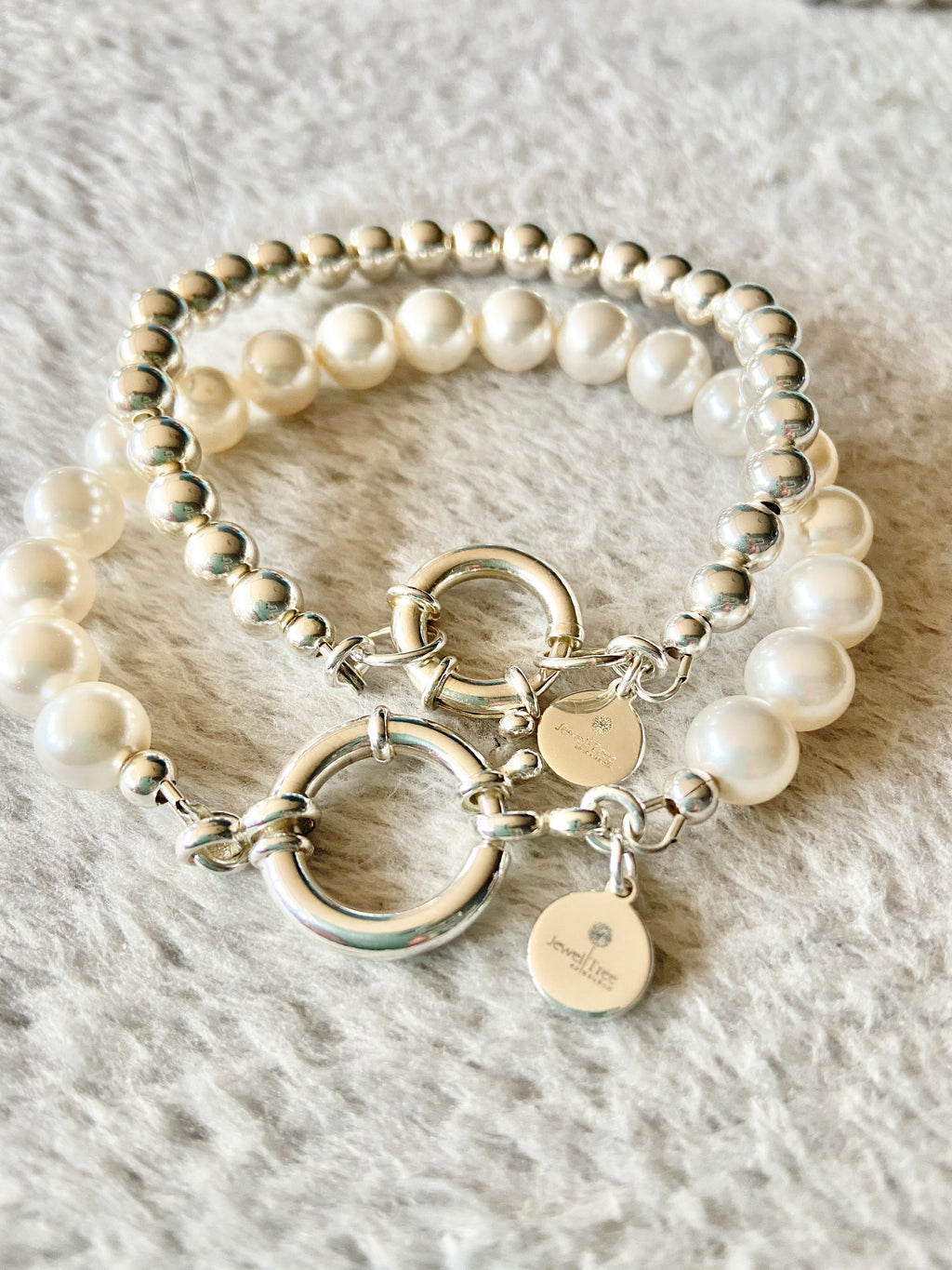 925 Ball Bracelet with Designer Bolt ring