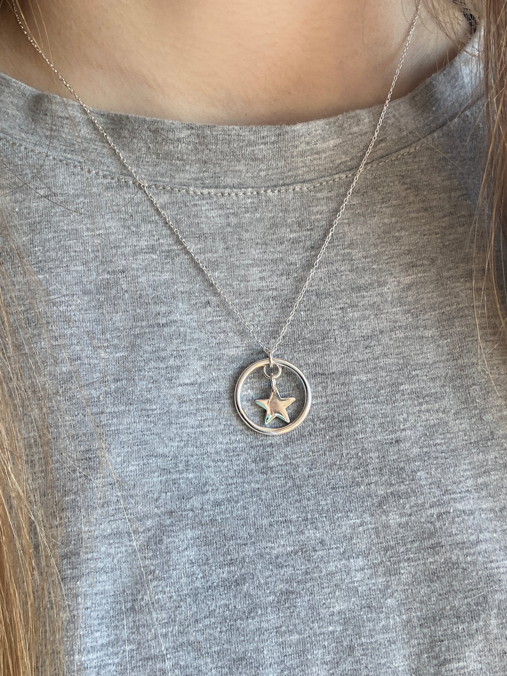 925 star 💫 and circle of life pendant