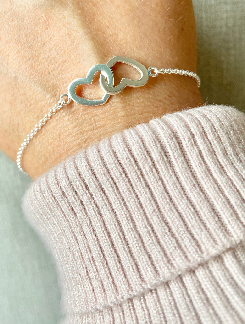 925 Interlocking hearts Bracelet