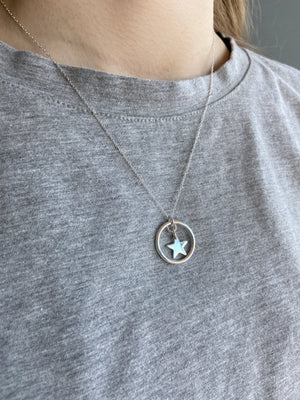 925 Eva star 💫 and circle of life pendant