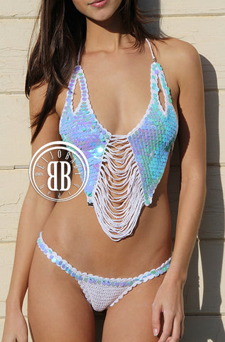 metallic mermaid bikini