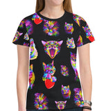 Crazy Kitty Cat Ladies Shirt