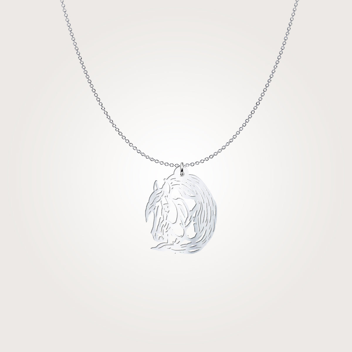 Simply Beautiful Quarter Horse Silver Necklace