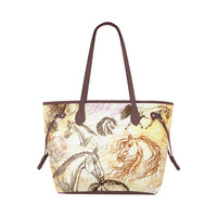 Vintage Inspired Equestrian Classic Tote Bag