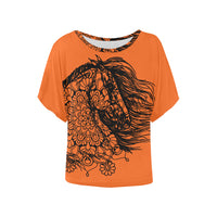 Dream Horse Mandala Black Lace Ladies Blouse