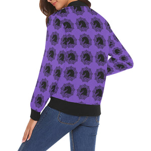 arabmand orchid Women's All Over Print Casual Jacket (Model H19)