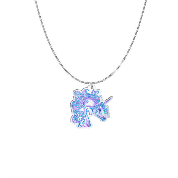 Glorious Unicorn Silver Pendant