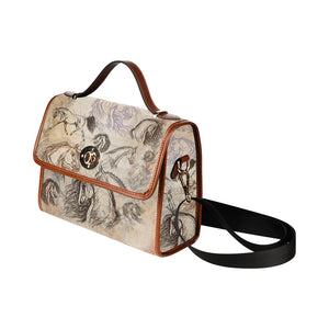 Vintage Inspired Equestrian Horse Canvas Hand Bag