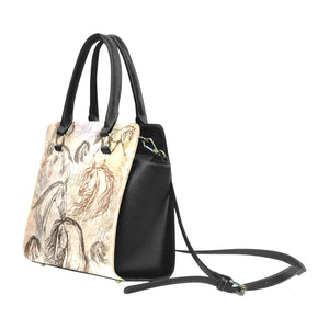 Vintage Inspired Equestrian Classic PU Leather Hand Bag
