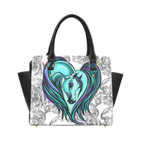 Arabian Heart Ornate Classic PU Leather Hand Bag