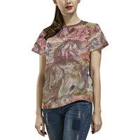 Vintage Equestrian Horse Fashion Ladies PLUS SIZE T-shirt