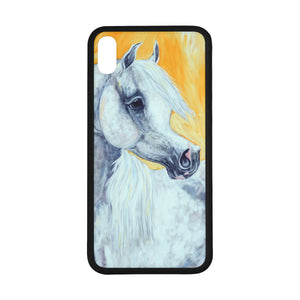 "Grey Arabian Horse Rubber Case for Iphone XS Max (6.5"")"