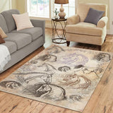Vintage Inspired Horse 5' x 7' Area Rug