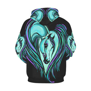 Arabian Horse Heart All over Unisex Hoodie s - xxl Plus Sizes