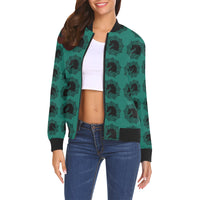 arabmand electric teal Women's All Over Print Casual Jacket (Model H19)