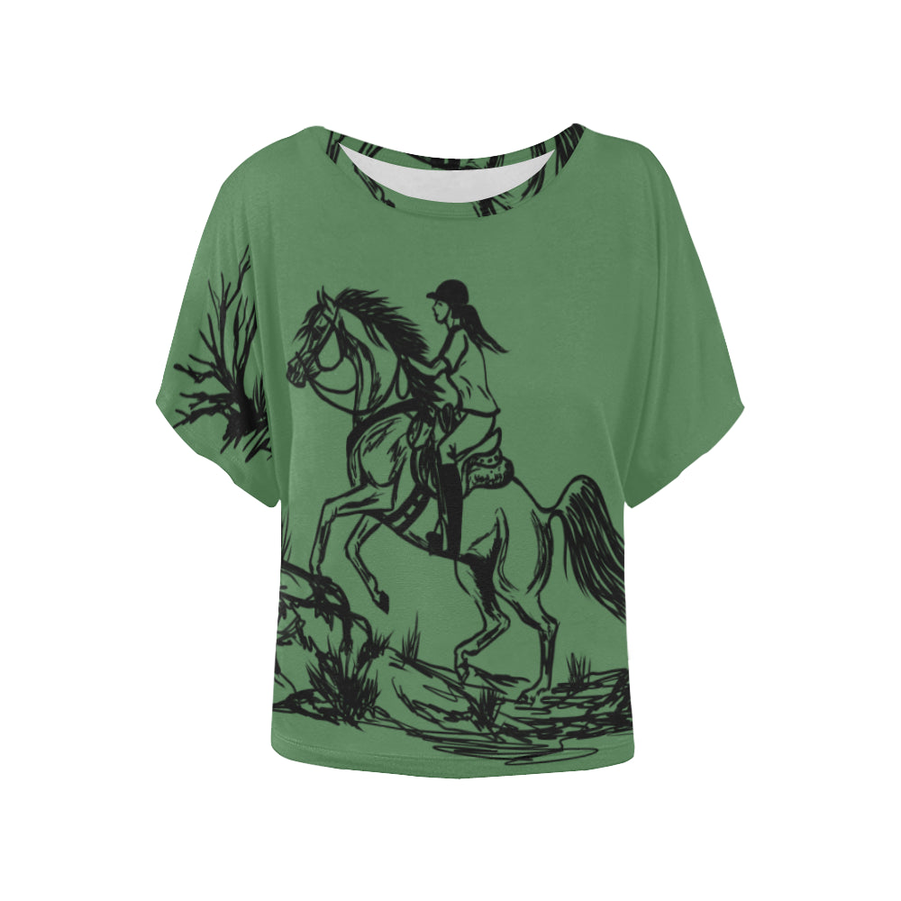 Endurance Riding Arabian Horse Ladies Blouse