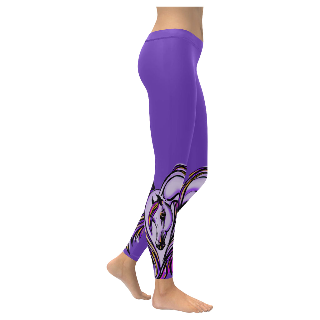 Arabian Horse Purple Heart leggings