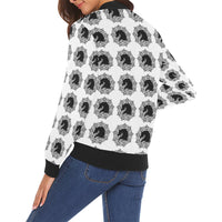 arabmand white Women's All Over Print Casual Jacket (Model H19)