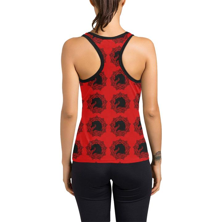 Arabian Horse Mandala Ladies Racer Back Tank