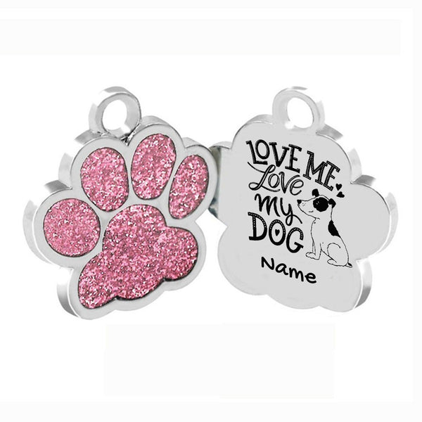 Love Me, Love my Dog Personalized Dog Key Chain