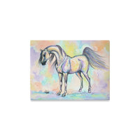Arabian Horse Art Watercolor Painting Canvas Print 16x12 inches Home Decor Equestrian