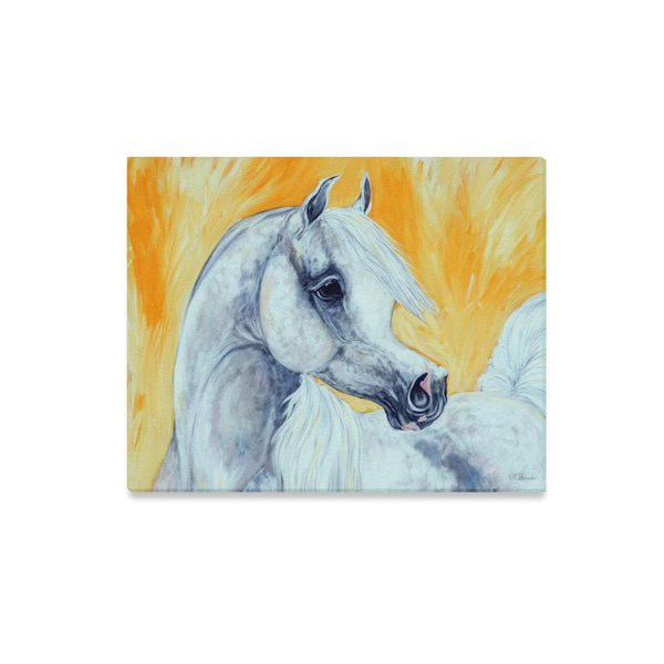 Arabian Horse Art Painting Canvas Print 16x20 inches Equestrian decor Farm House