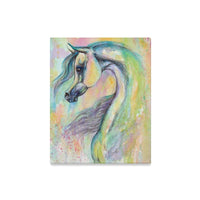 "Arabian Horse ""Enigma"" watercolor painting canvas Print"