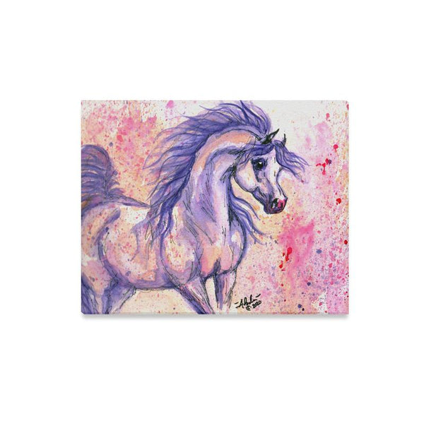 Arabian Horse 'Purple Rain' 20x16 Canvas Print