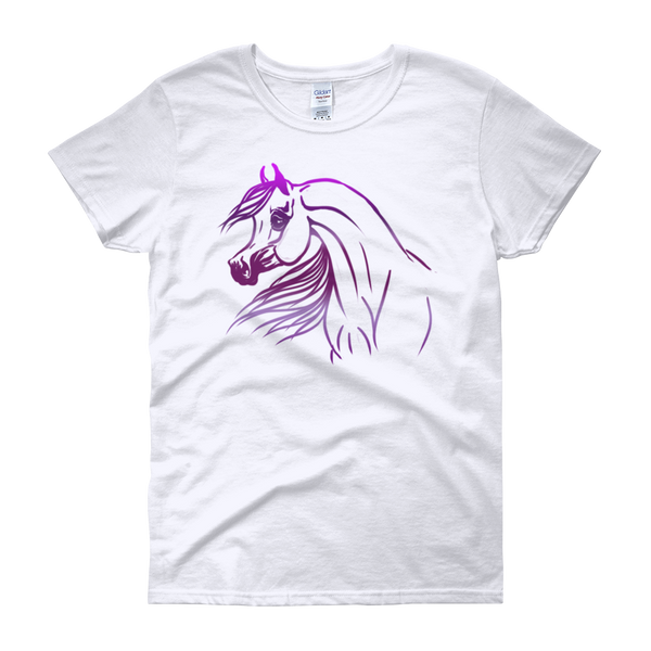 Arabian Horse Purple Logo Women's short sleeve t-shirt S - 3XL
