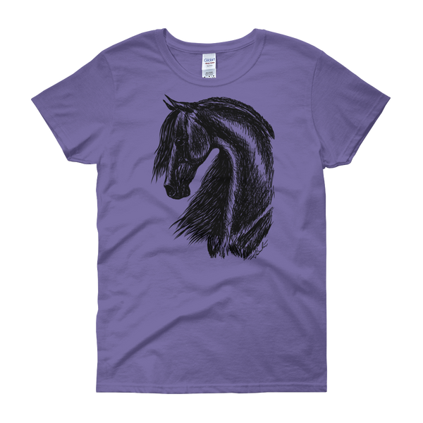 Friesian Horse BEST VALUE Women's short sleeve t-shirt