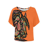 Colorful Mandala Horse Ladies Blouse