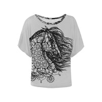 Dream Horse Mandala Ladies Blouse