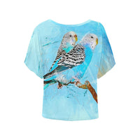 Blue Parrot Budgie Parakeet Ladies Blouse
