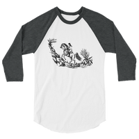 Endurance Horse Riding Vintage look Raglan 3/4 sleeve raglan shirt