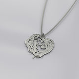 Heart of the Horse Silver Necklace