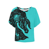 Black Lace Tribal Arabian Horse Blouse