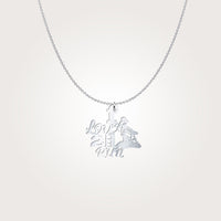 I LOVE TO RUN Barrel Racing Horse Silver Necklace