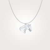 Elegant Quarter Horse Silver Necklace