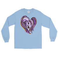Arabian Horse Heart Purple Sweat Shirt