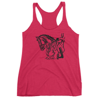 Dressage Horse and Rider Classical luxury racer back tank top