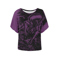 Reining Horse Bat Wing Ladies Shirt