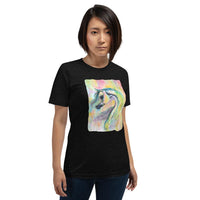 Enigma Arabian Horse Watercolor art Short-Sleeve Unisex T-Shirt