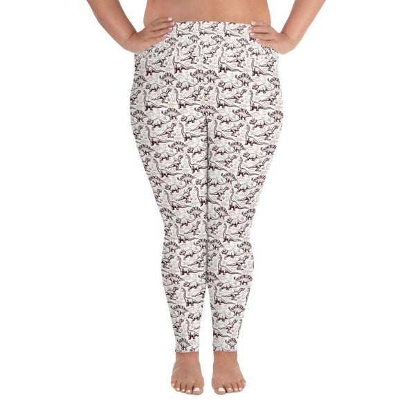 Dinosaur Plus sized All-Over Print Plus Size Leggings