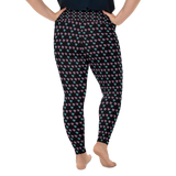 Arabian Horse Heart Shaped Pattern All-Over Print Plus Size Leggings