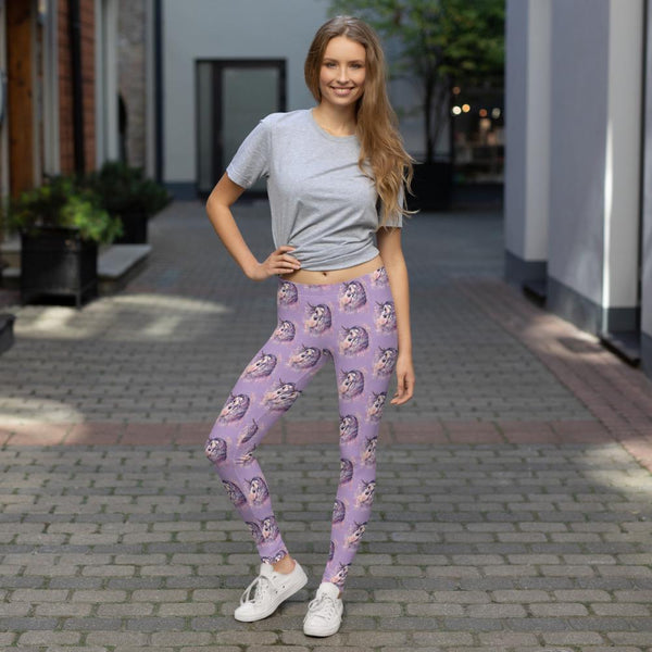 Majestic Unicorn Watercolor art Leggings