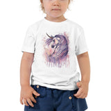 Majestic Unicorn Watercolor art Toddler Short Sleeve Tee